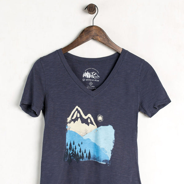 Mountain Ink V-Neck Tee