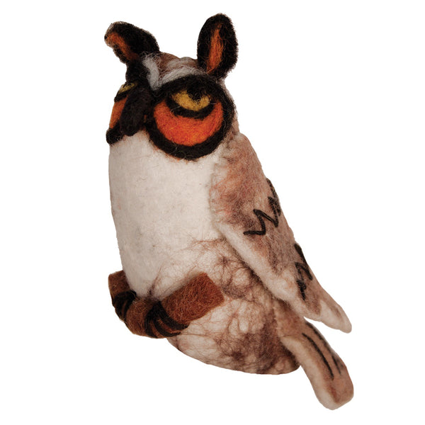Wild Woolie Bird Ornament - Long-Eared Owl