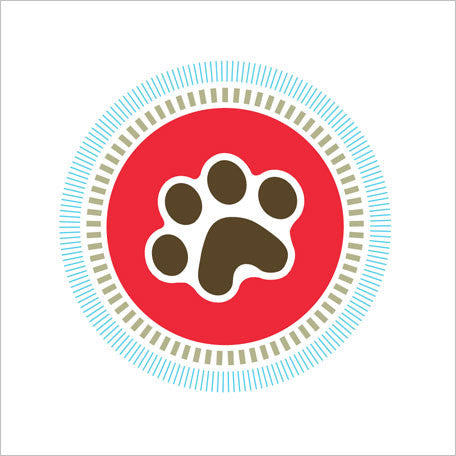 Pet Paw Sustainable Hand Towel