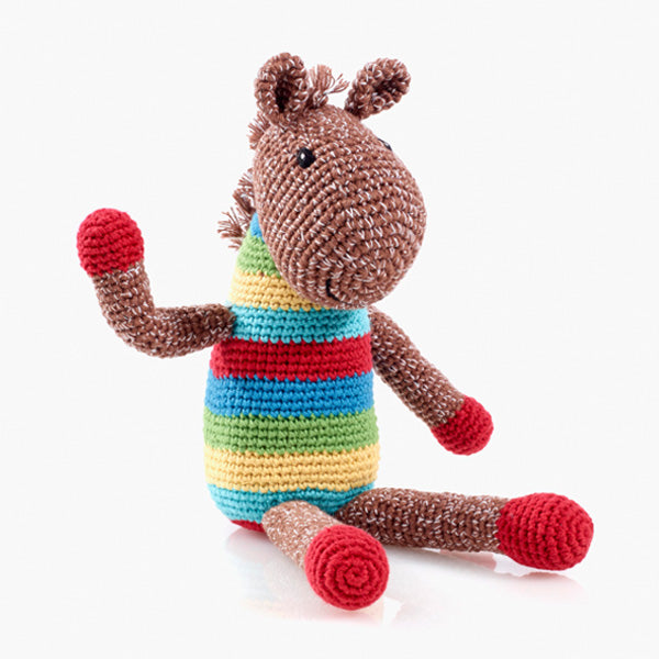 Horse Handwoven Soft Baby Rattle