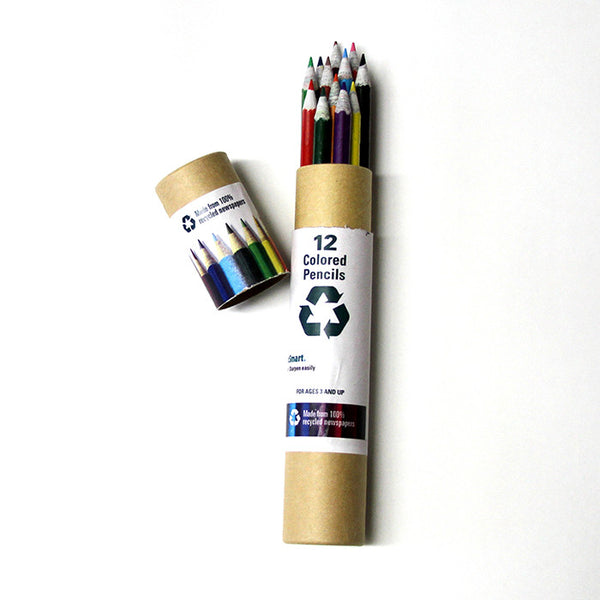 Recycled Newspaper Colored Pencils in Tube