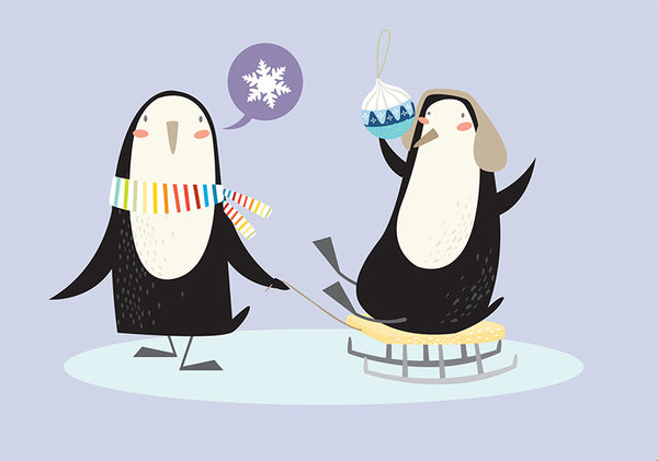 Penguins Holiday Cards Assortment Pack of 12