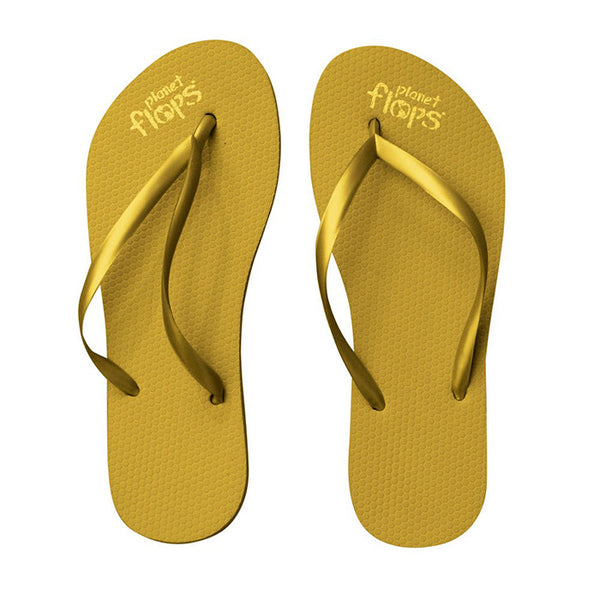 Metallic Colors Natural Rubber Flip Flops