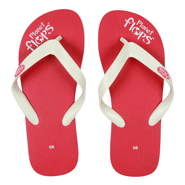 Two-Tone Natural Rubber Flip Flops