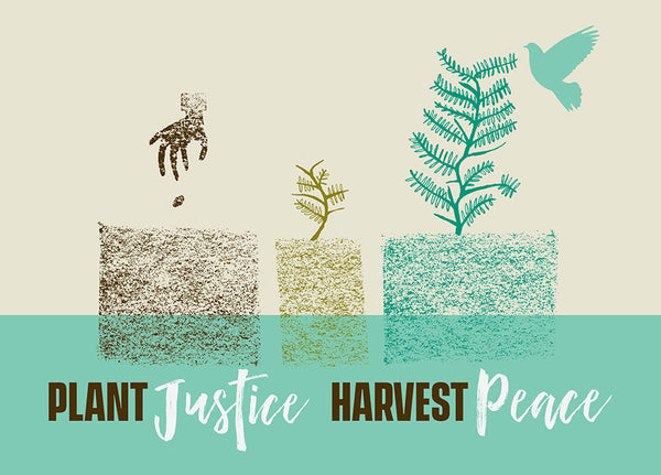 Plant Justice Harvest Peace Note Cards Pack of 10