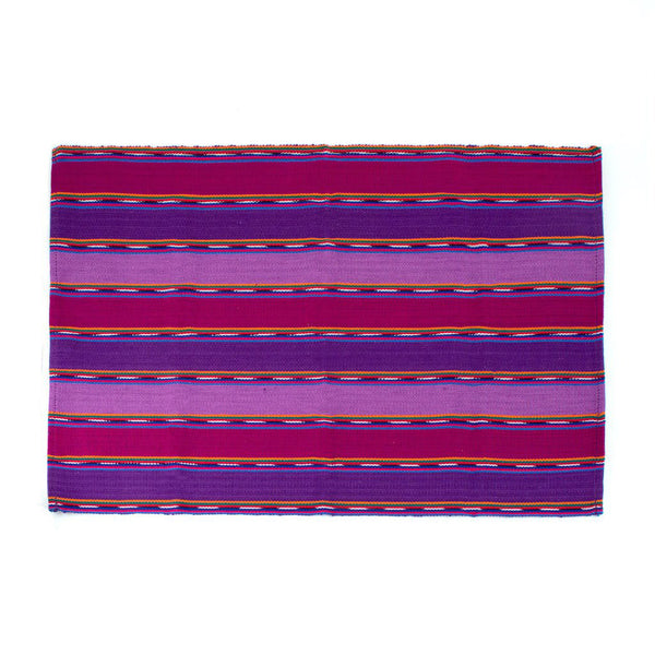 Purple Zunil Striped Placemats, Set of 4