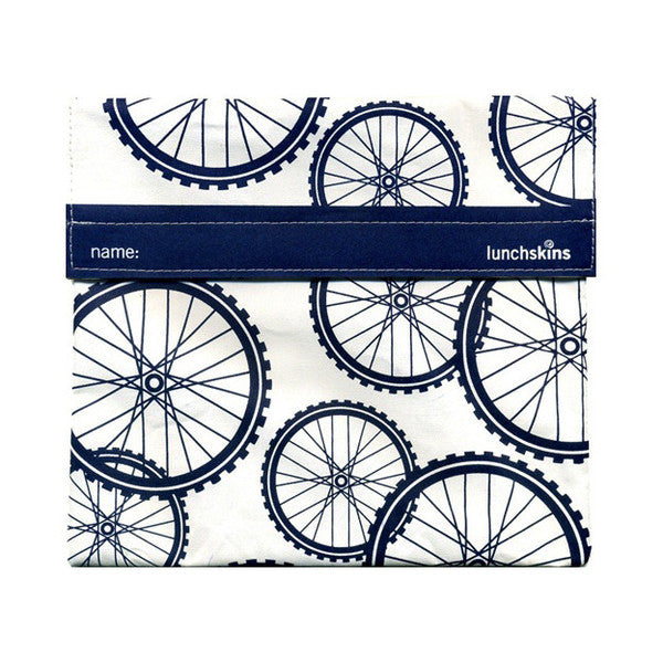 Reusable Sandwich Bag Blue Bike Design