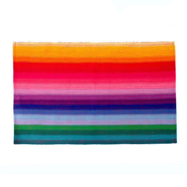 Rainbow Striped Placemats, Set of 4