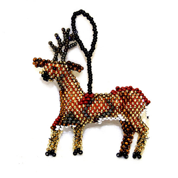Beaded Reindeer Ornament
