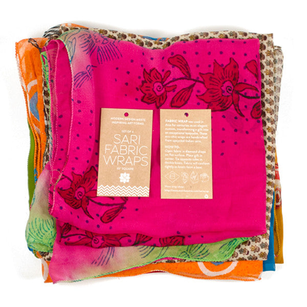Upcycled Sari Fabric Wraps