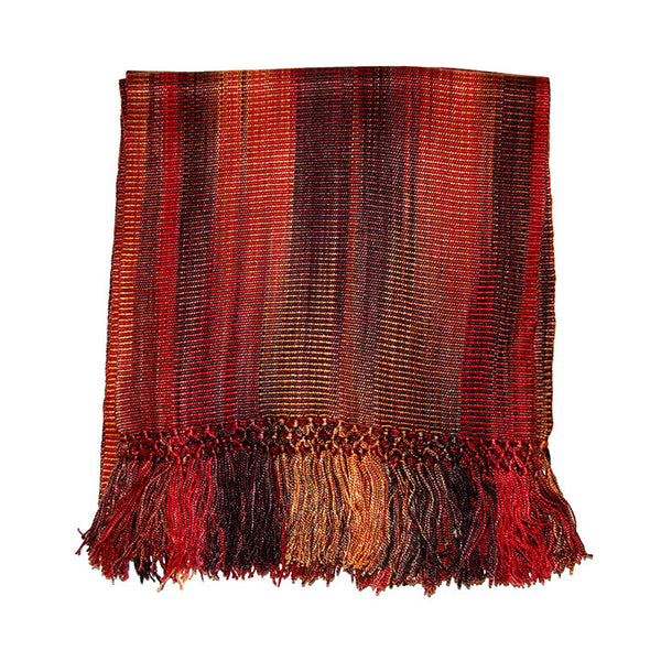 Autumn Fire Lightweight Bamboo Scarf