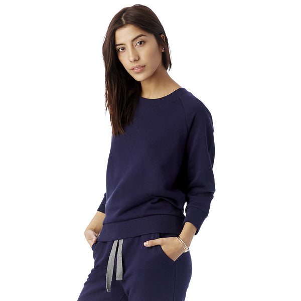 Midnight Blue Modal Fleece Sweatshirt
