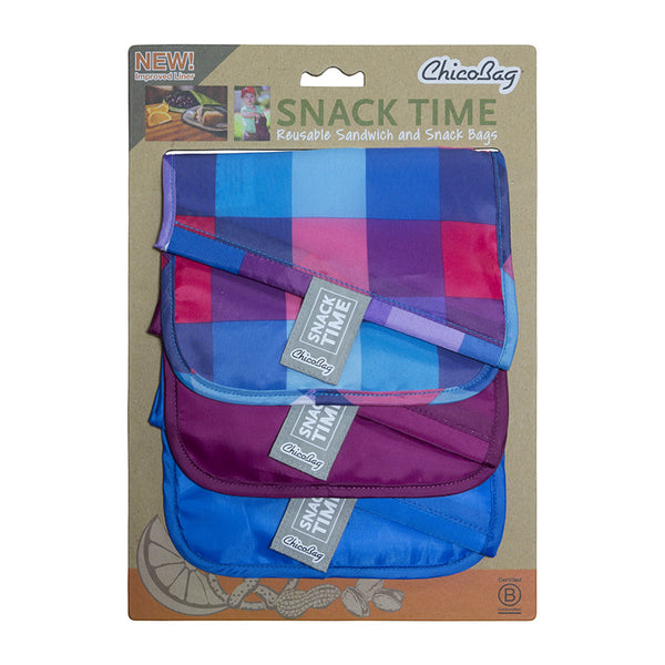 Reusable Snack and Sandwich Bags Set