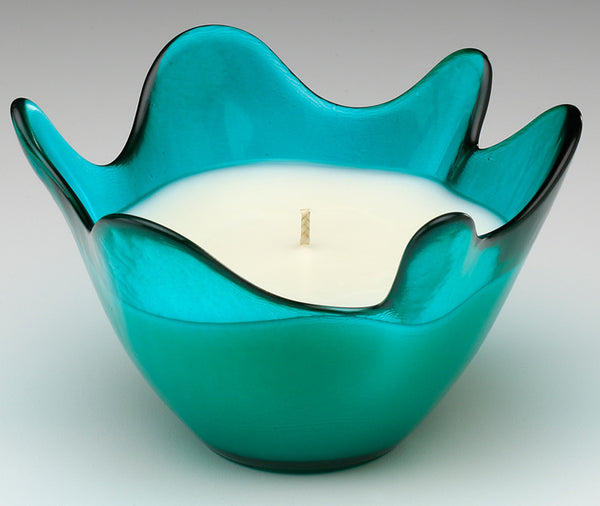 Splash Recycled Glass Bowl Candles