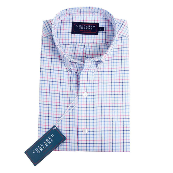 Stuart Button Down Shirt - Pink & Blue