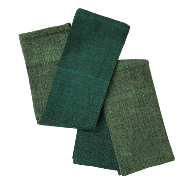 Brush Textured Cotton Dinner Napkins - Set of Four