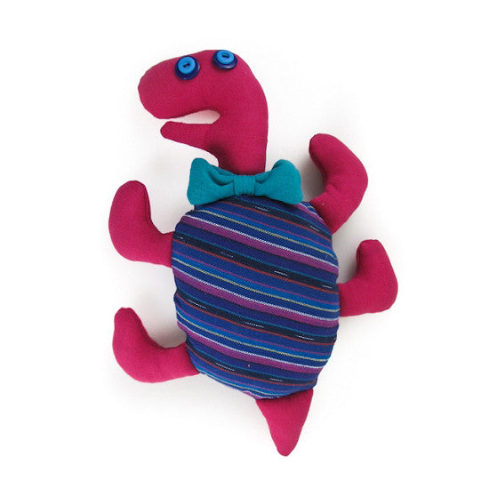 Handwoven Tita the Tap-Dancing Turtle Stuffed Animal