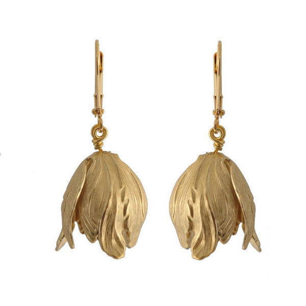 Golden Tulips Earrings