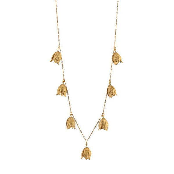 Golden Tulips Necklace