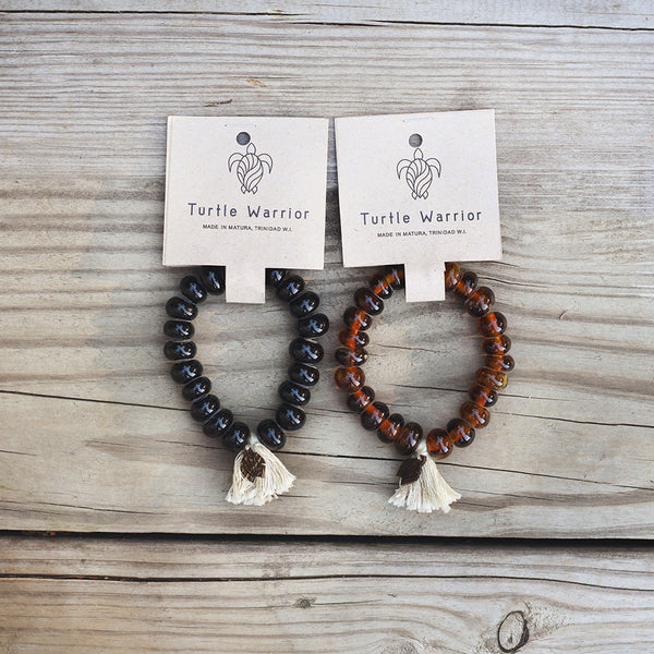 Men's Recycled Turtle Warrior Bracelet