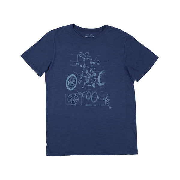Cycle Blue Crew-Neck Tee