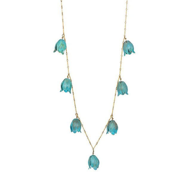 Verdigris Tulips Necklace