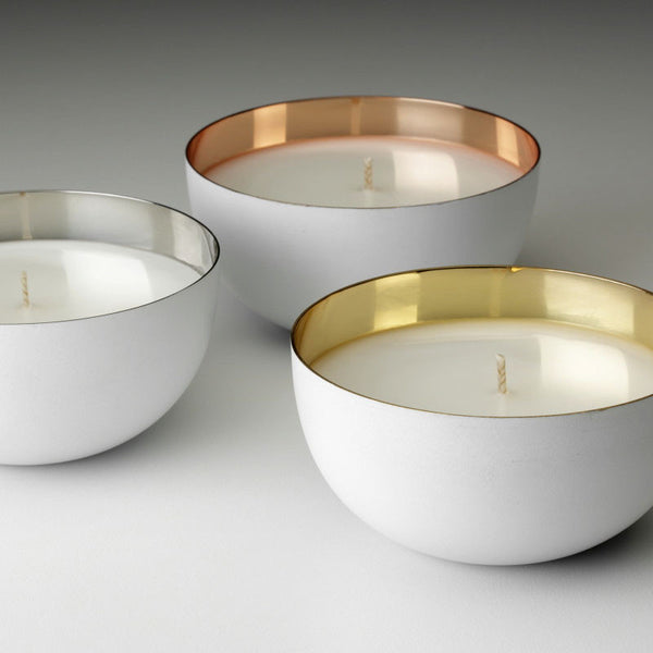 Metallic Vietas Bowl Candle