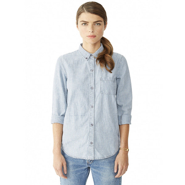 Chambray Railroad Stripe Work Shirt