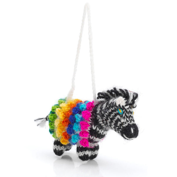 Hand-Kintted Zebra Ornament