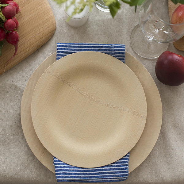 Compostable All-Occasion Bamboo Plates - Package of 8