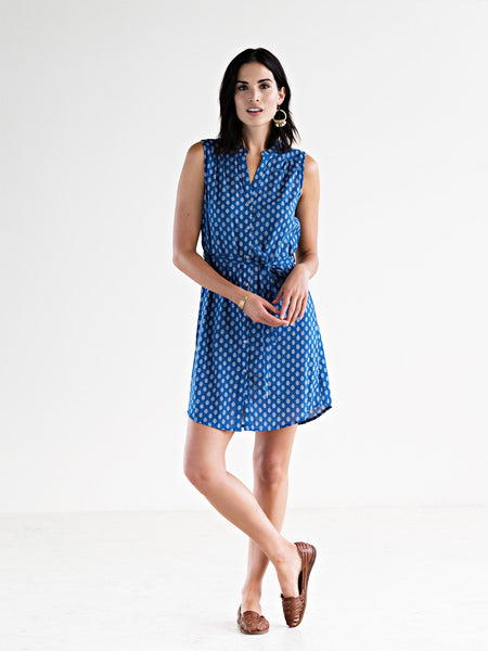 Natalia Shirt Dress - Blue