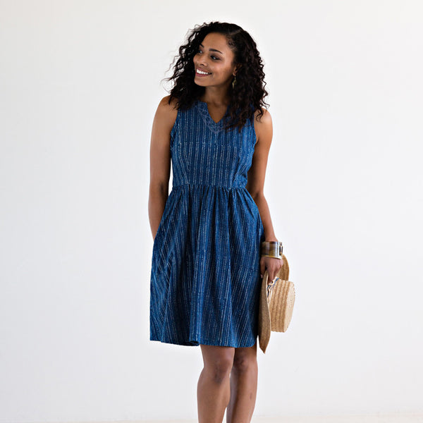 Tisbury Indigo Dots Dress