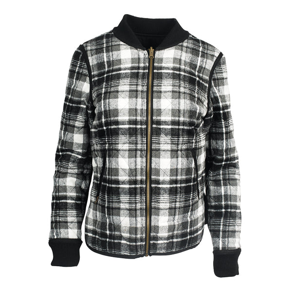 Black & Plaid Reversible Jacket