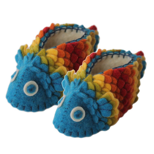 Zooties Wool Baby Booties - Fish