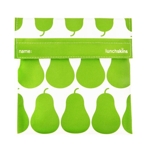 Reusable Sandwich Bag Green Pear Design