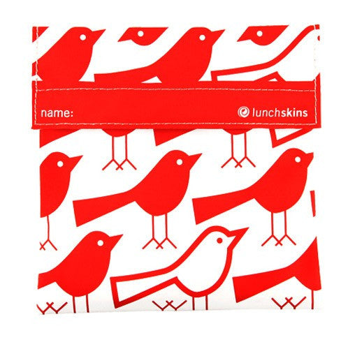 Reusable Sandwich Bag Red Bird Design