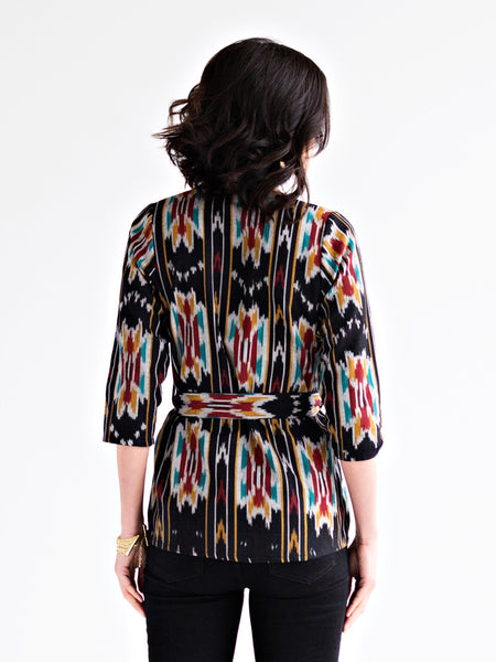 Patterned Kimono Jacket Top