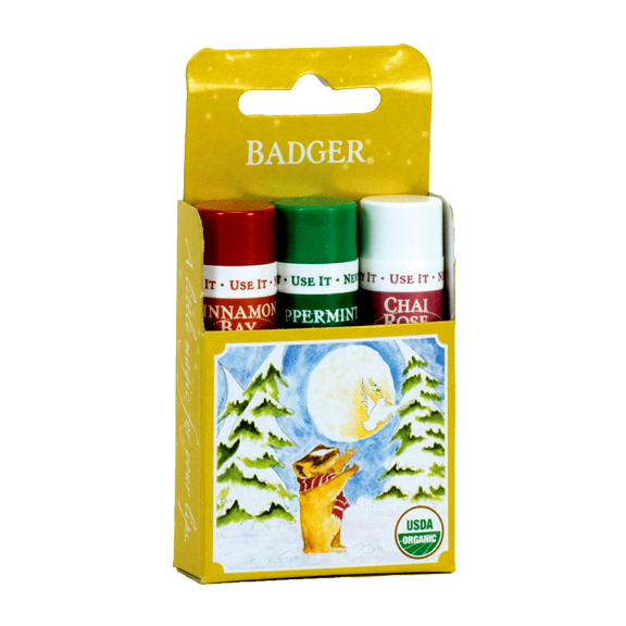 Classic Winter Lip Balm 3-Pack Gift - Gold