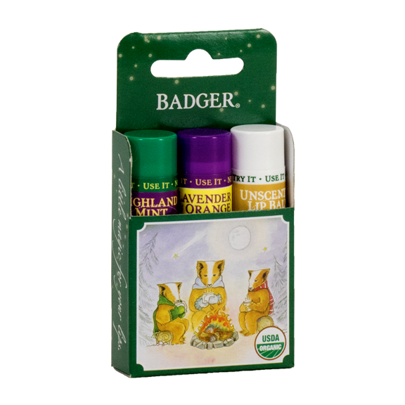 Classic Winter Lip Balm 3-Pack Gift - Green