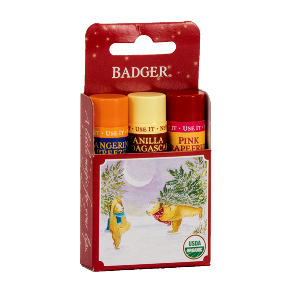 Classic Winter Lip Balm 3-Pack Gift - Red