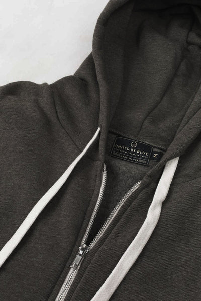 Gray Tafton Zip-Up Hoodie