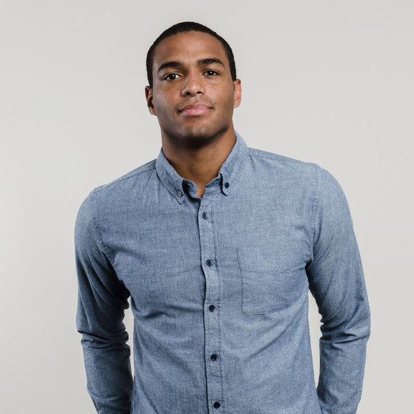 Men's Bryce Blue Chambray Shirt