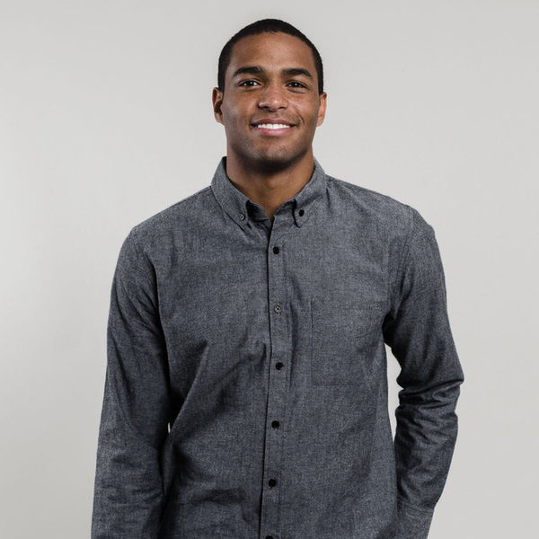 Men's Bryce Gray Chambray Shirt