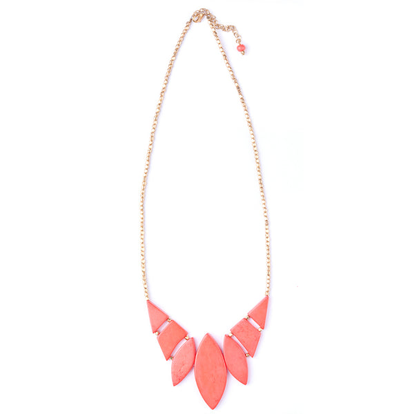Indra Necklace - Coral