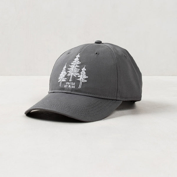 Charcoal Embroidered Pine Tree Hat
