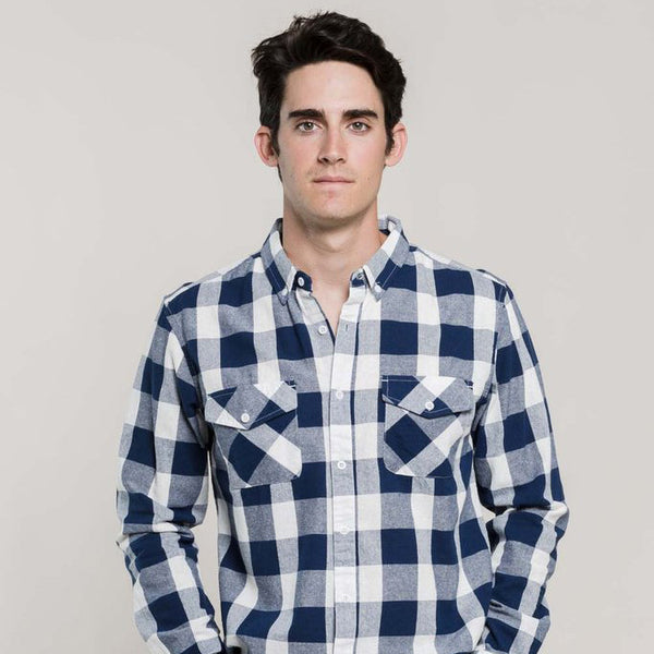 Sansom Blue Plaid Button-Down