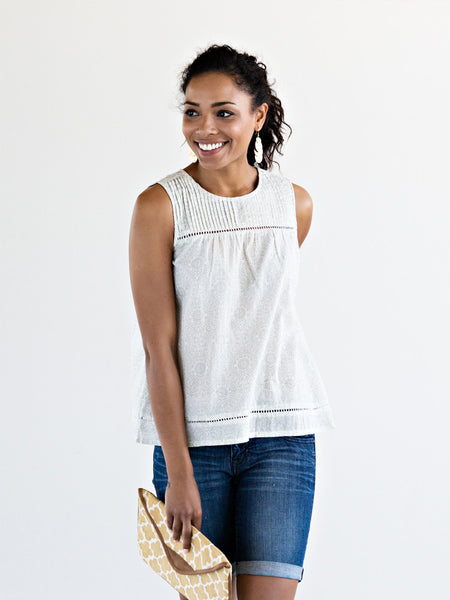 Maisie Trim Top Gray