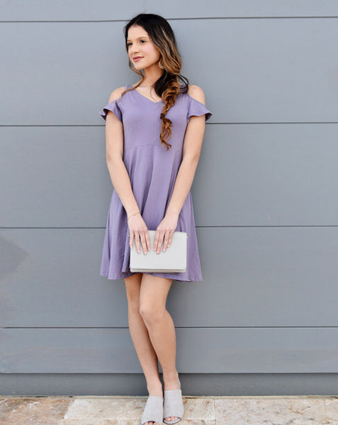 Vivian Dress in Purple Sage