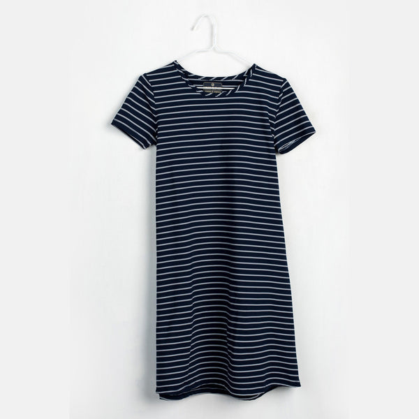 Blue Hyde Stripe Swing Dress