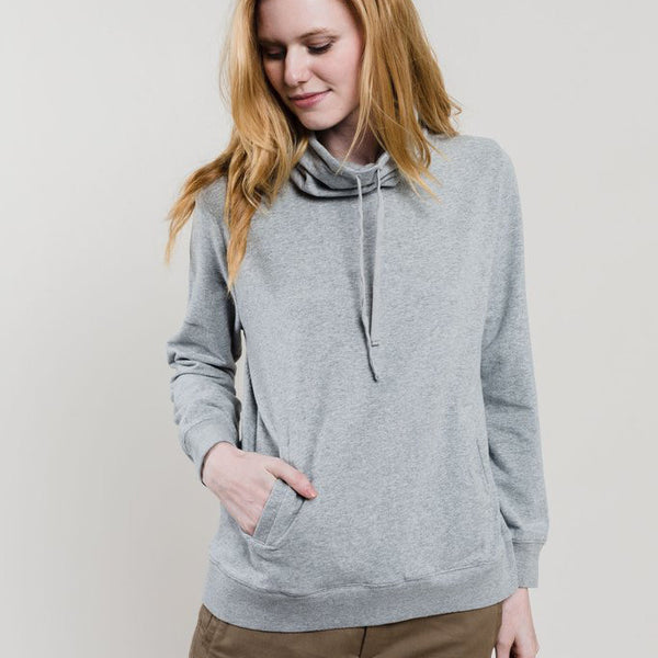 Gray Highly Cowlneck Pullover